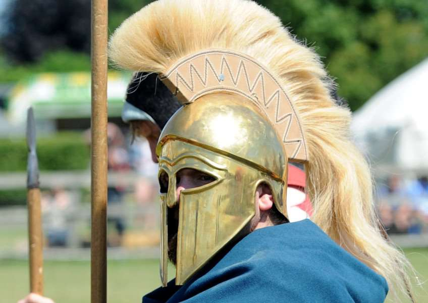 An ancient Greek warrior at History Alive