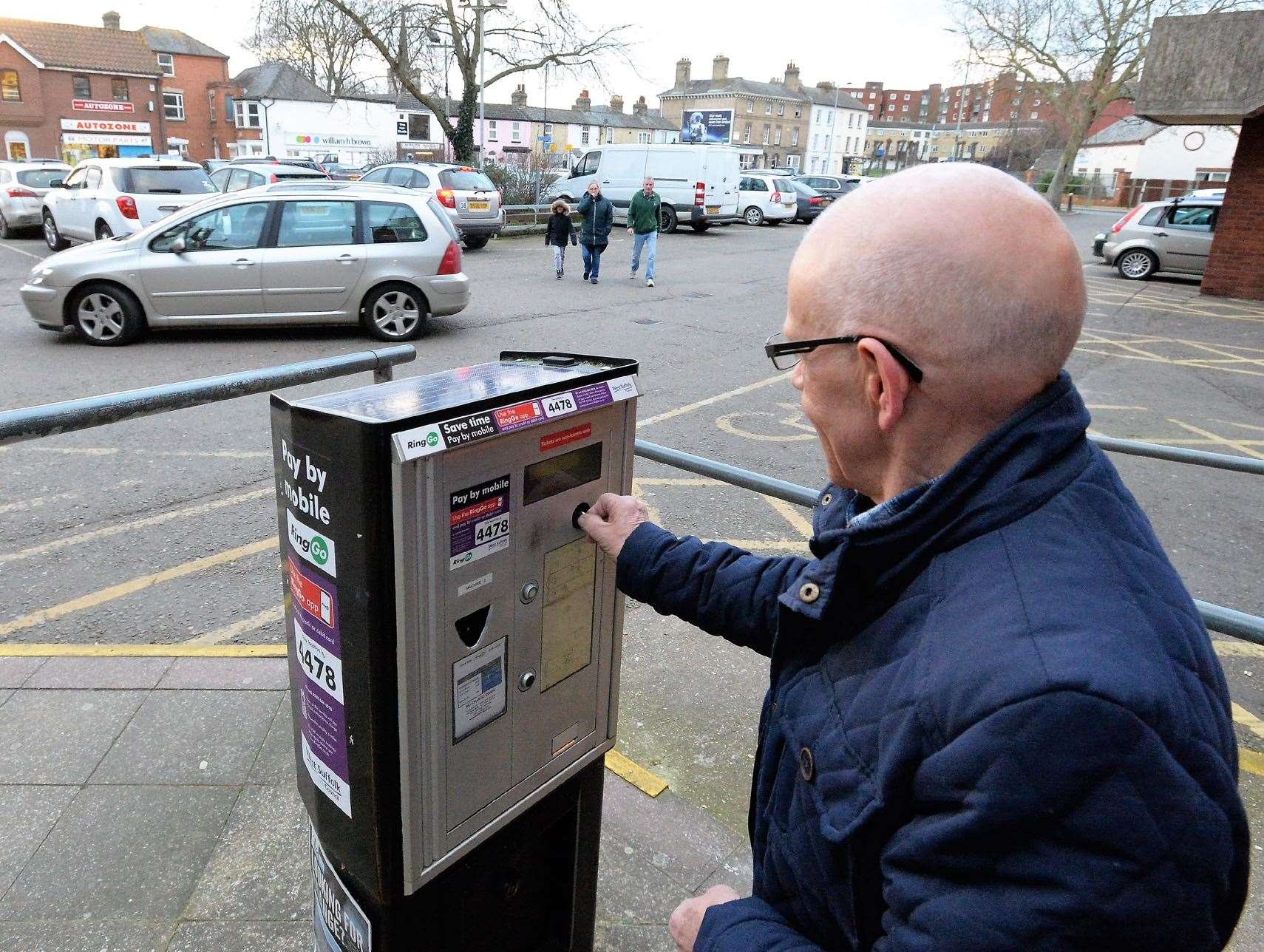 Car parking charges will be re-instated in Newmarket's council car parks from Monday.