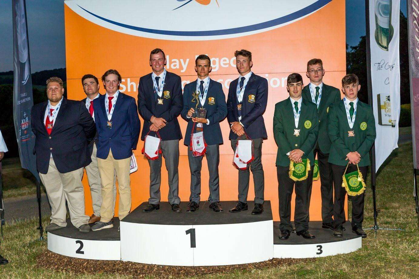 NINE-YEAR DROUGHT ENDS: England juniors have won gold in the junior category of the World English Sporting Championships, for the first time since 2009, helped by Tom McGregor (right of the three on the top spot)