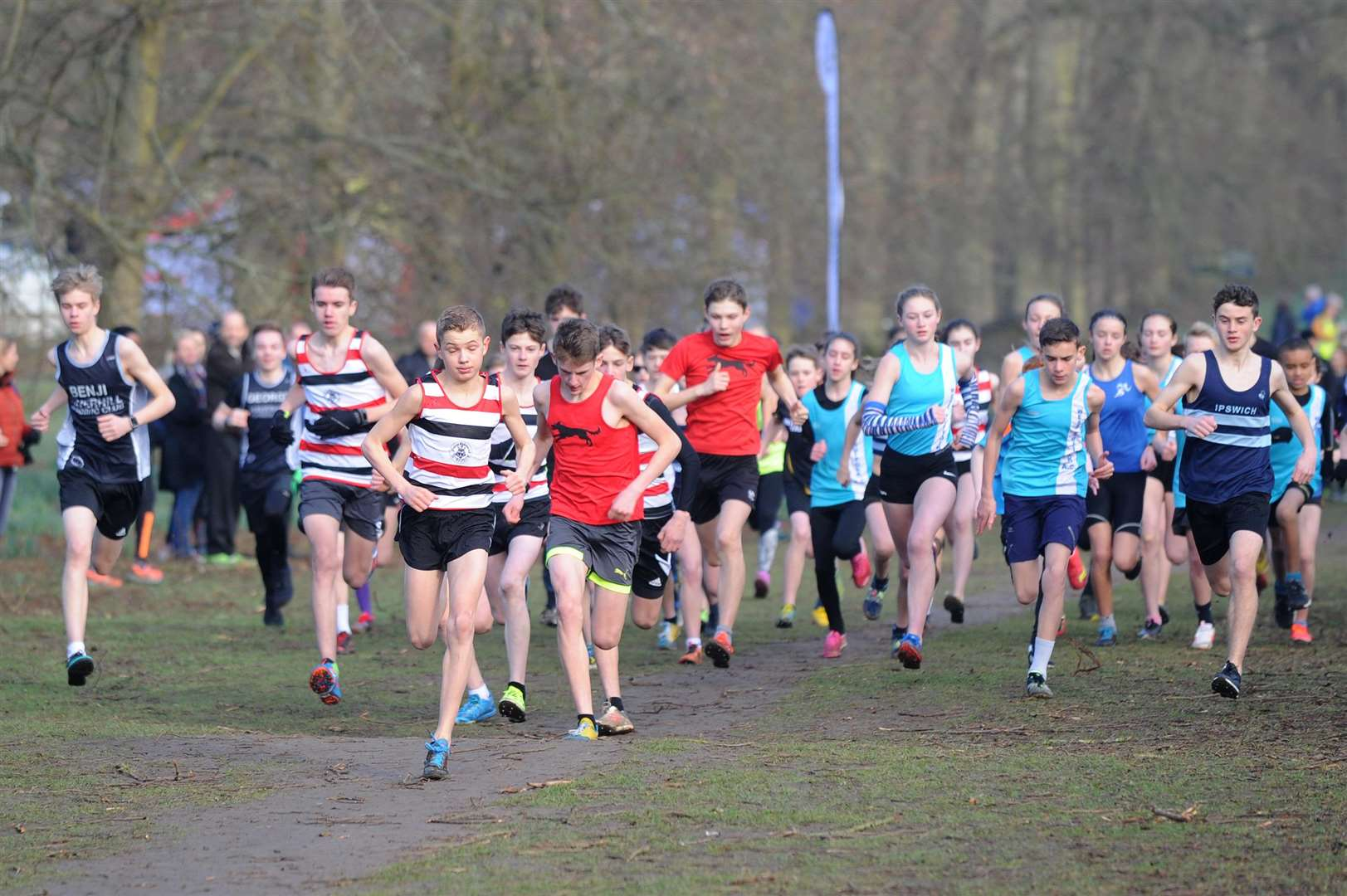 RUNNING - Suffolk Winter League x-country - Juniors and U11...PICTURE: Mecha Morton. (7228544)