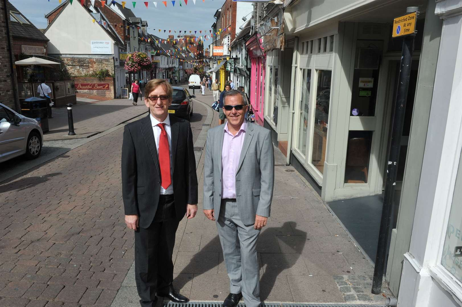Mike Kirkham and Mark Cordell in St John's Street