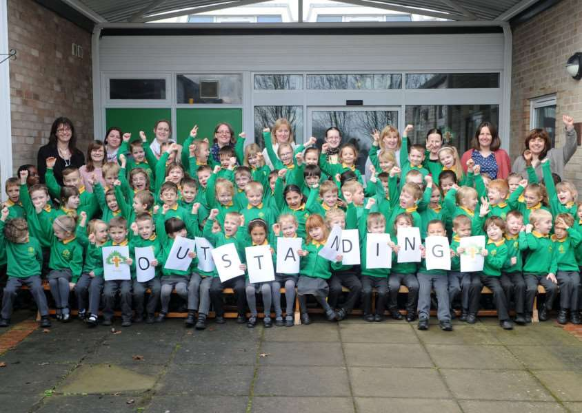 Trinity Primary School has received an outstanding SIAMS (Statutory Inspection of Anglican and Methodist Schools) report. It is the school's first ever report since it opened in September 2014.
