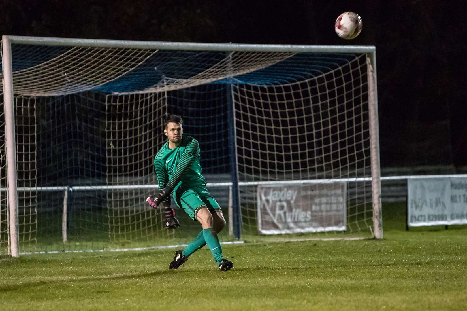BUSY MAN: Hadleigh United goalkeeper Nick Punter