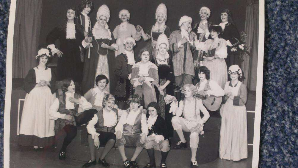 All we know about this archive photo is that it shows the Castle Manor Drama Group, that's it!
