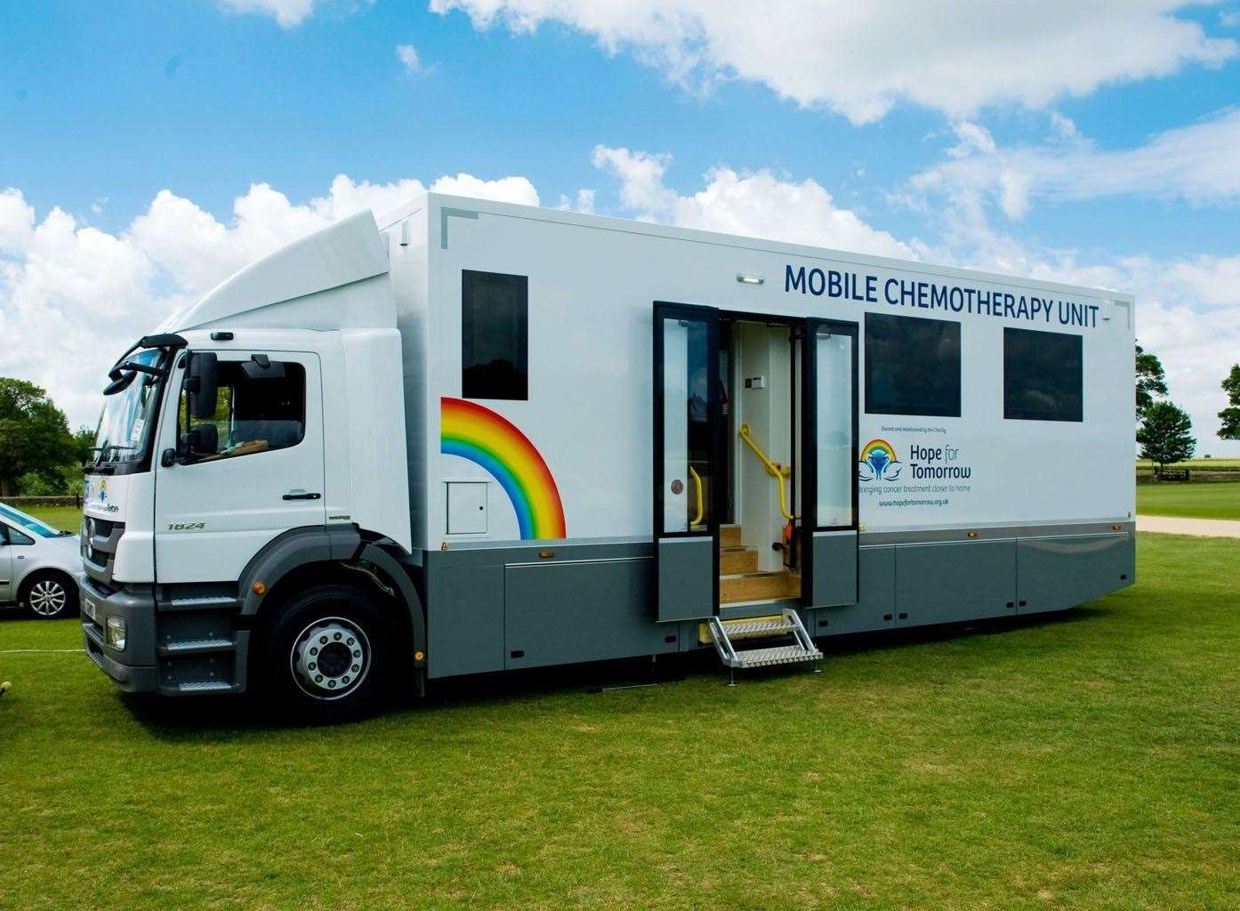 The Suffolk Mobile Chemotherapy Unit operated by the Hope for Tomorrow charity.
