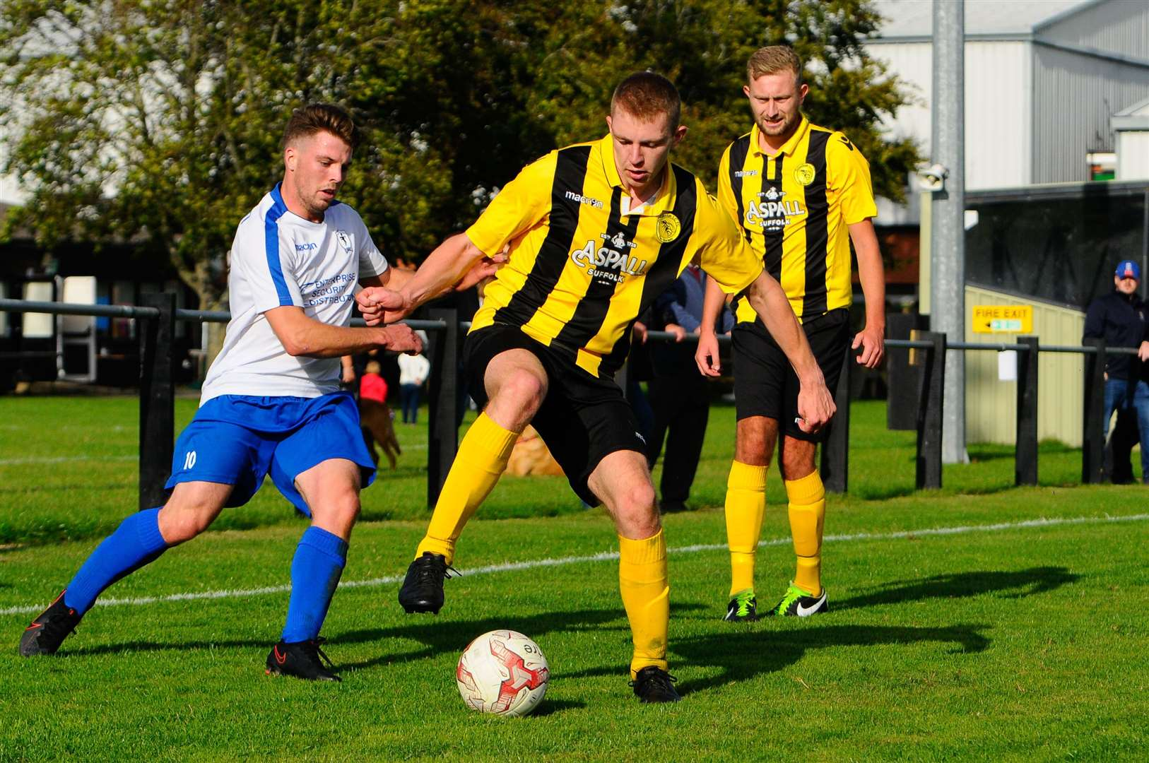 Debenham, Suffolk, 05/09/2020..Football action from Debenham LC vs Fakenham Town FC - Will Seccombe..Picture: Mark Bullimore Photography. (41983240)