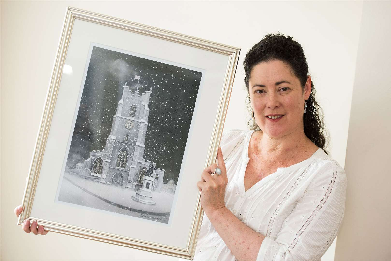Sudbury. Artist Eleanor Mann for feature on Suffolk Art Society. Picture by Mark Westley. (13320601)