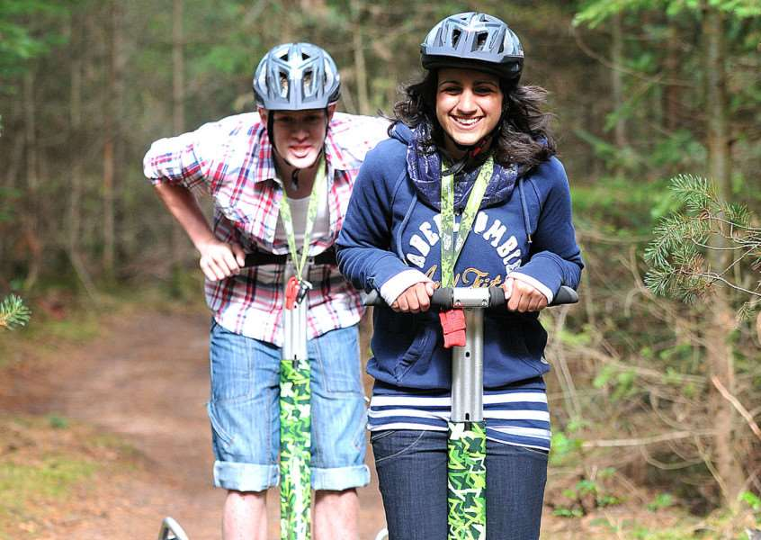 Off-road segways in Thetford Forest at High Lodge - Lucy Ruthnum and Tommy King