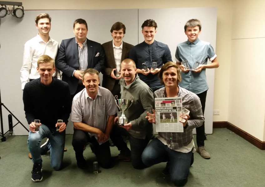 All of the winners at the Haverhill Cricket Club senior presentation night, including Adam Dellar (bottom right) who collected the Haverhill Echo Player of the Year Award to go with the Batsman of the Year titles he won for the Midweek 1s and Saturday 1s ANL-151019-105521002