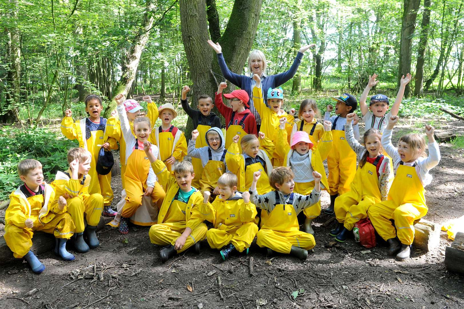 Youngsters from Bulmer St Andrews madetheir final visit at an outdoor activity centre - Wiggery Wood Forest school, before the summer holidays....PICTURE: Mecha Morton... (13255801)