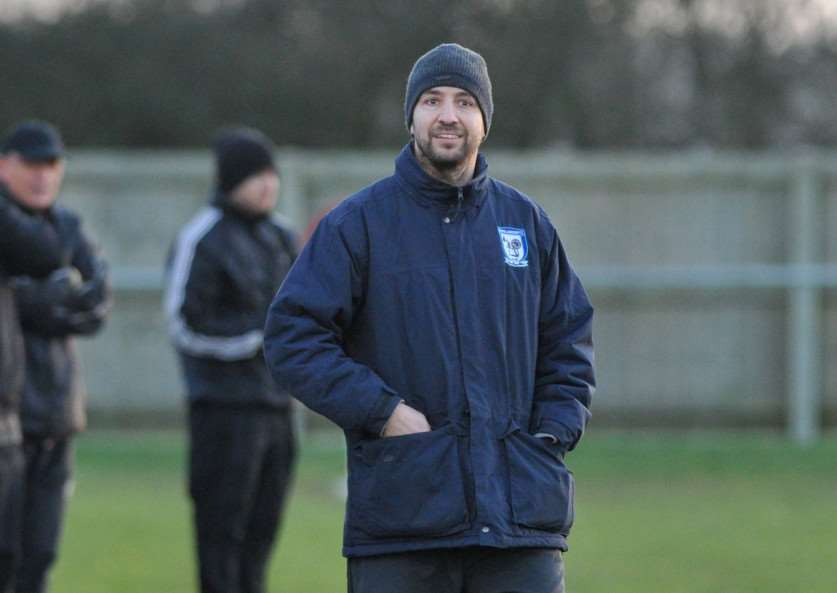 Ben Cowling at his final match as manager of Haverhil Borough