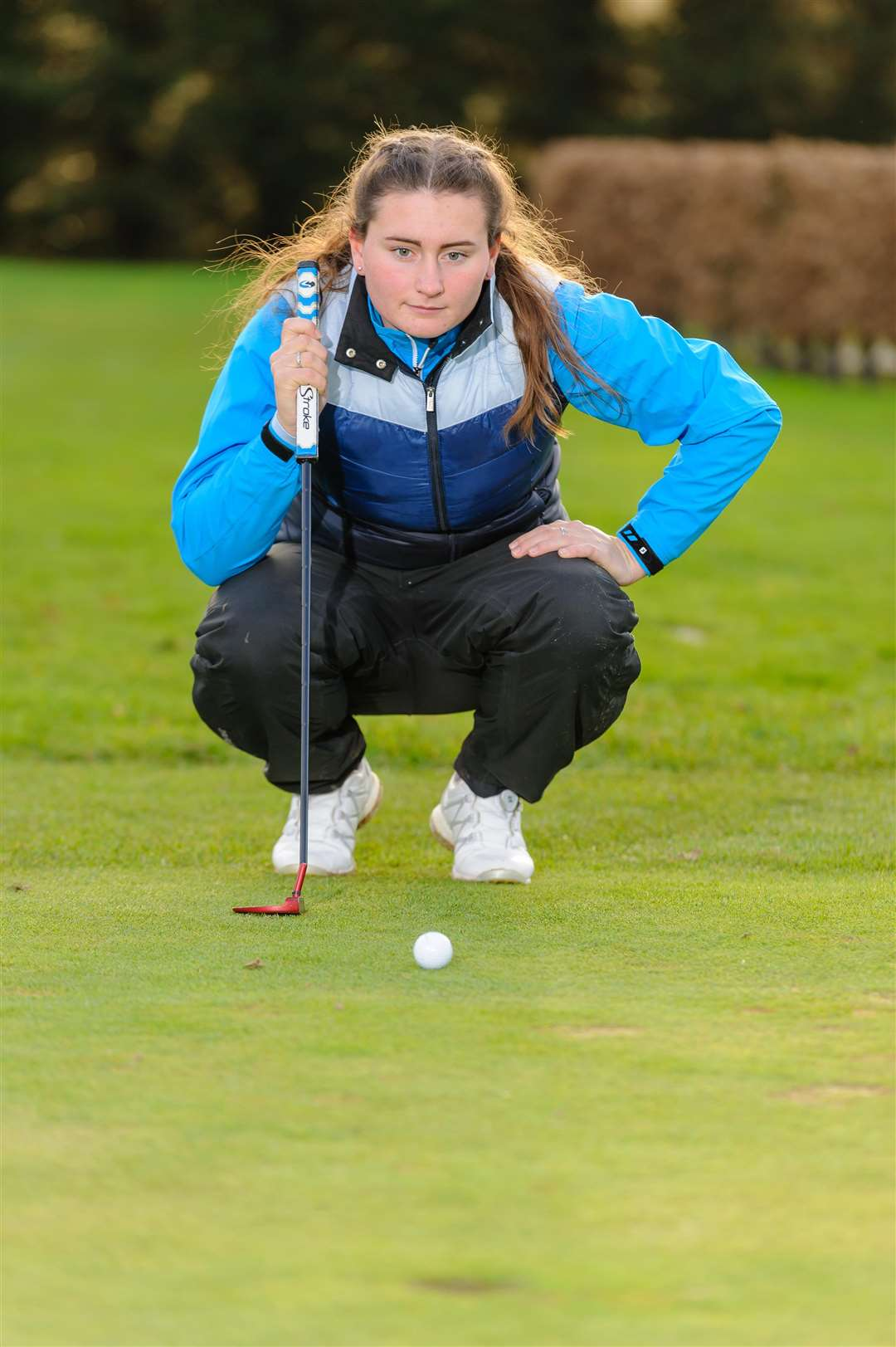 Stoke By Nayland - Golfer Lily May Humphreys, 16 of Great Cornard. ..Picture by Mark Bullimore Photography. (6407427)