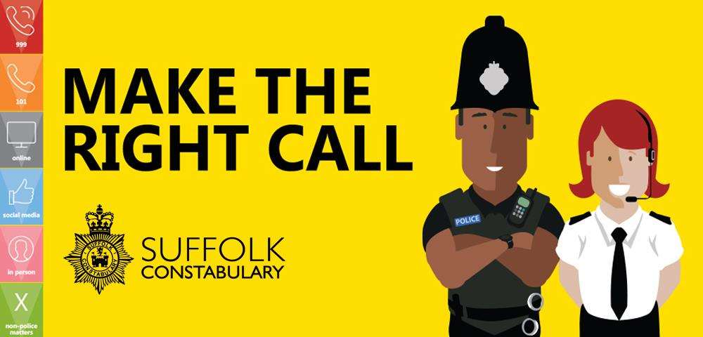 Suffolk Police want people to use the 999 service for the right reasons (4128256)