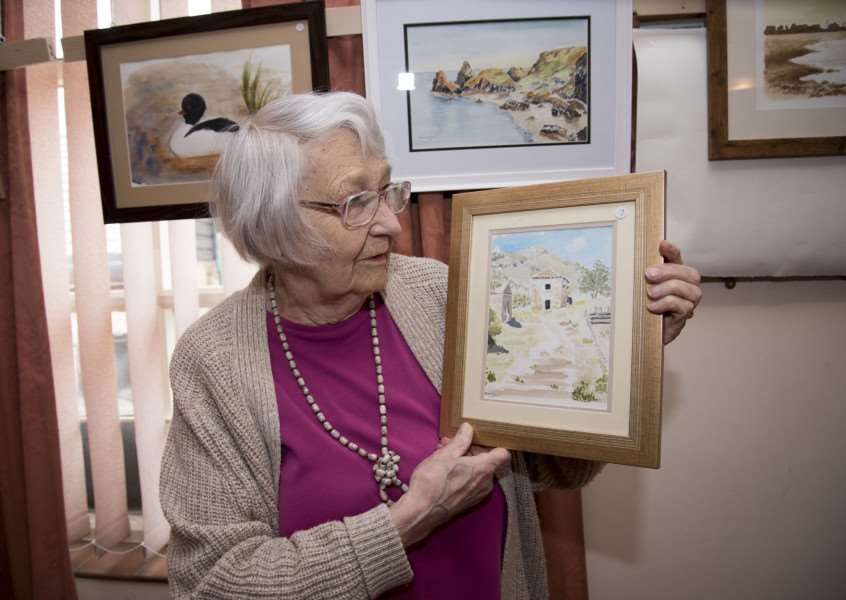 NAYLAND Art exhibition'Church Hall, Bear St. Nayland'Founder member Daphne Berry'Picture Mark Westley ANL-160516-084122009
