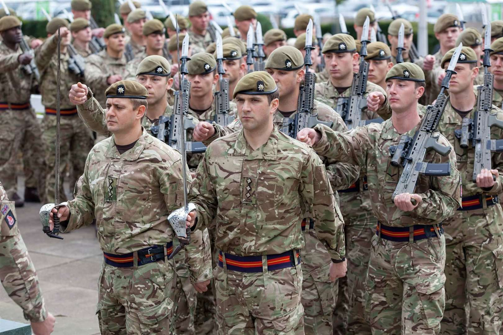 The Royal Anglian Regiment on parade. Contributed photo