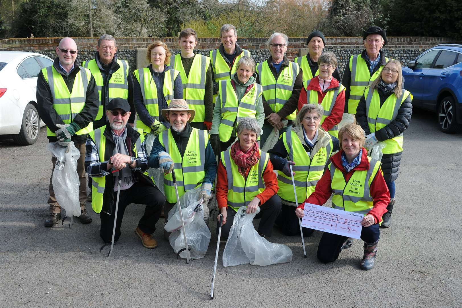 The Long Melford Litter Pickers carried out a 'Great British Spring Clean'....PICTURE: Mecha Morton.... (8161569)
