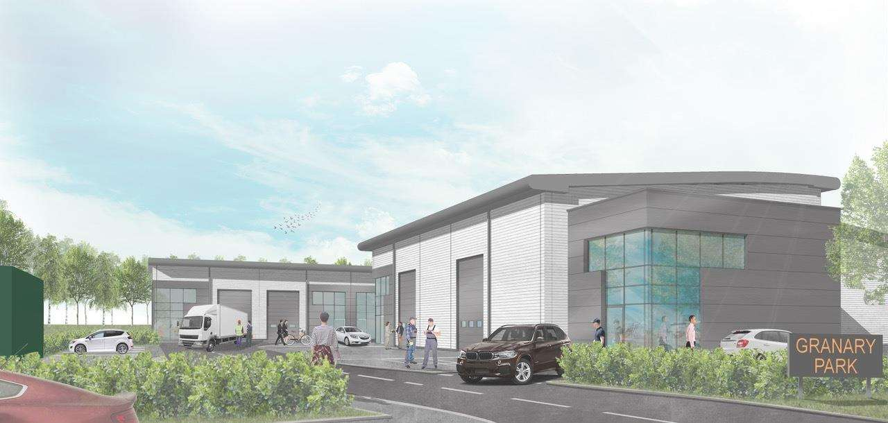 An artist impression of the Granary Business Park, in Woolpit (6004341)