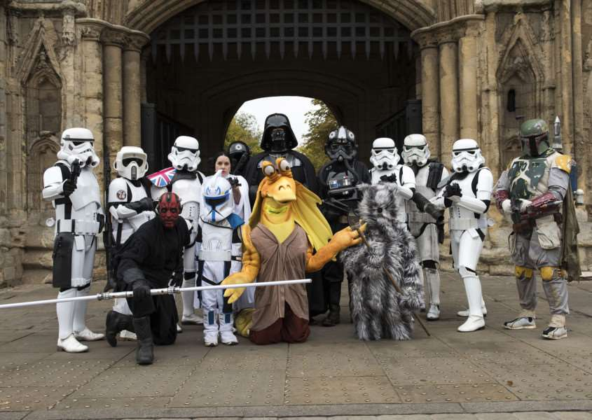 Sci Fi exhibition in Bury's Moyse's Hall, Star Wars fans march into Bury.'Picture Mark Westley ANL-151024-121454001