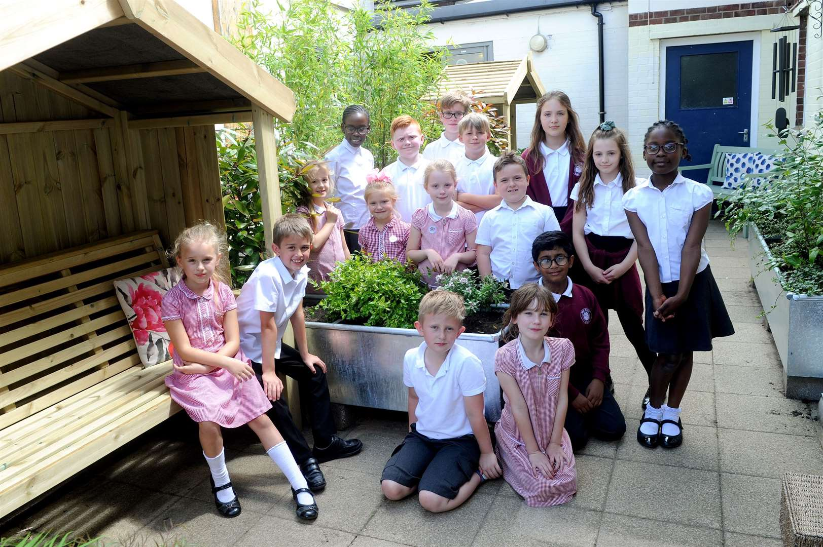 Tudor Primary School has opened a new school garden, funded with the support of a Tesco grant.....PICTURE: Mecha Morton... (12518042)