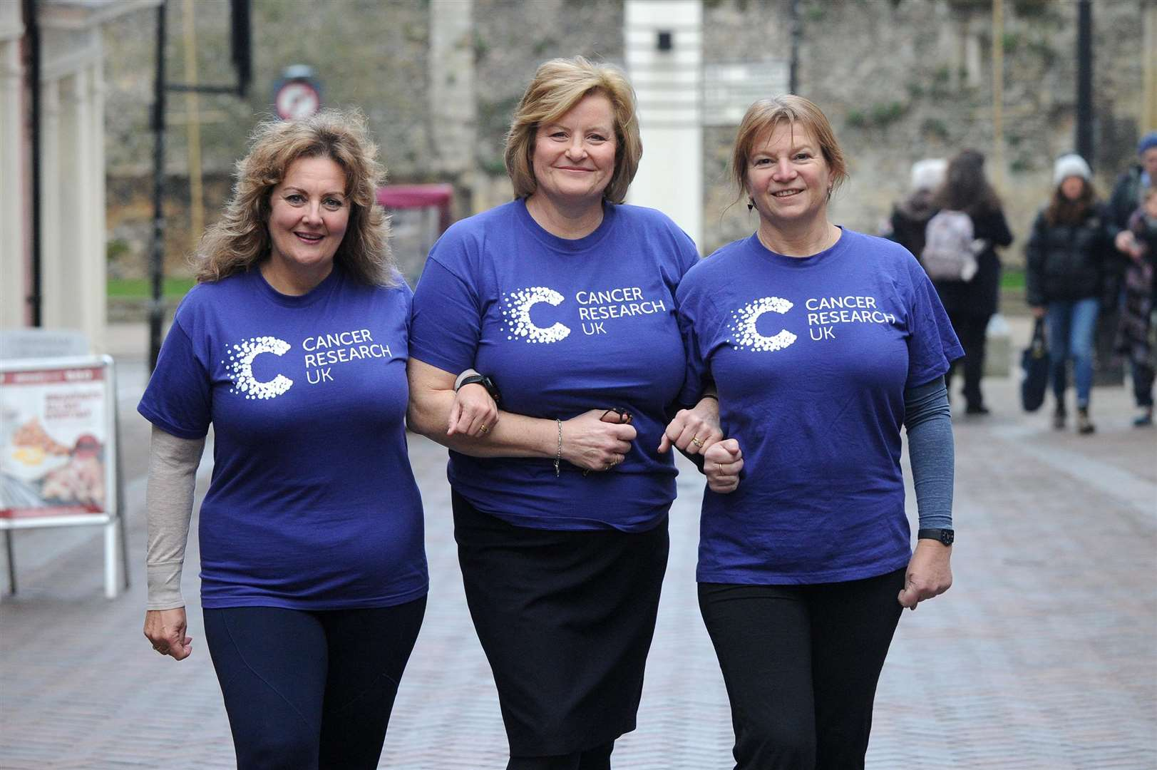 Four ladies are taking the Himalaya Climbing Charity Challenge in October in aid of Cancer Research UK..Pictured: Sharon Ferguson-Cuffe, Jo McDonnell and Caroline McClellan....PICTURE: Mecha Morton... (6752024)