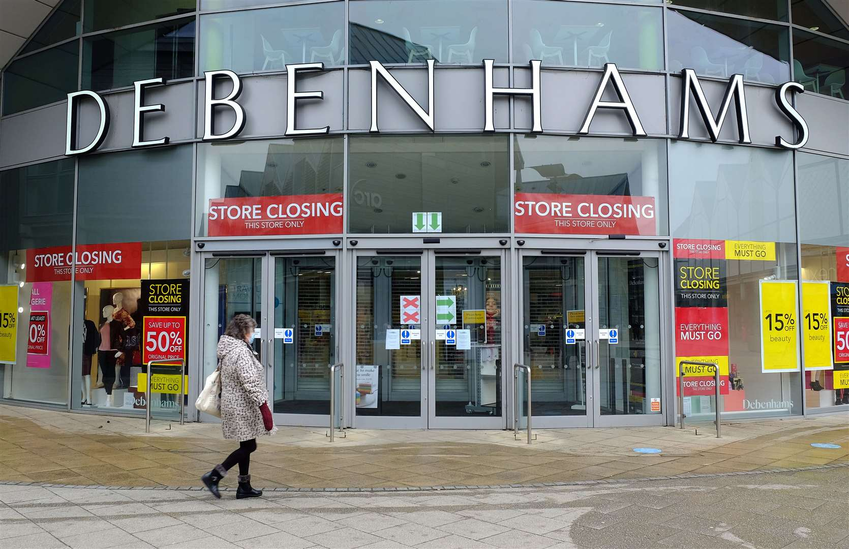 Debenhams will reopen for a final closing down sale. Picture: Richard Marsham