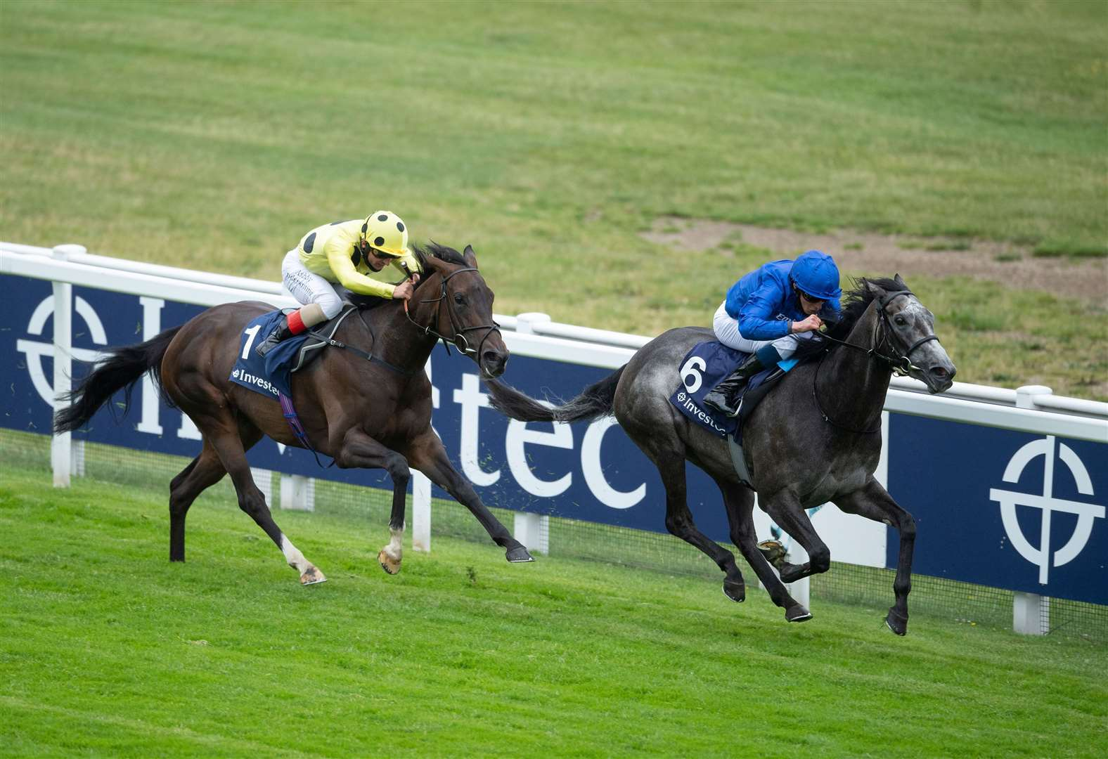 Summer Romance (William Buick ) beats Cloak Of Spirits (Andrea Atzeni) in the Princess Elizabeth Stakes (Sponsored by Investec).Epsom 4.7.20 Pic: Edward Whitaker/Racing Post.. (37828348)
