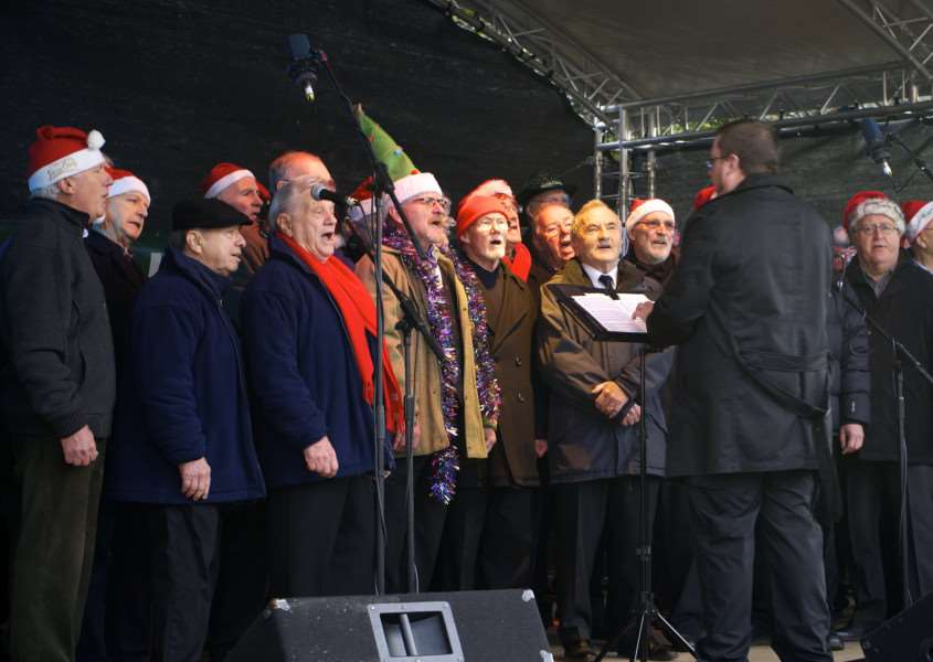 St Edmundsbury Male Voice Choir are back at the fayre this year ANL-141130-205602009