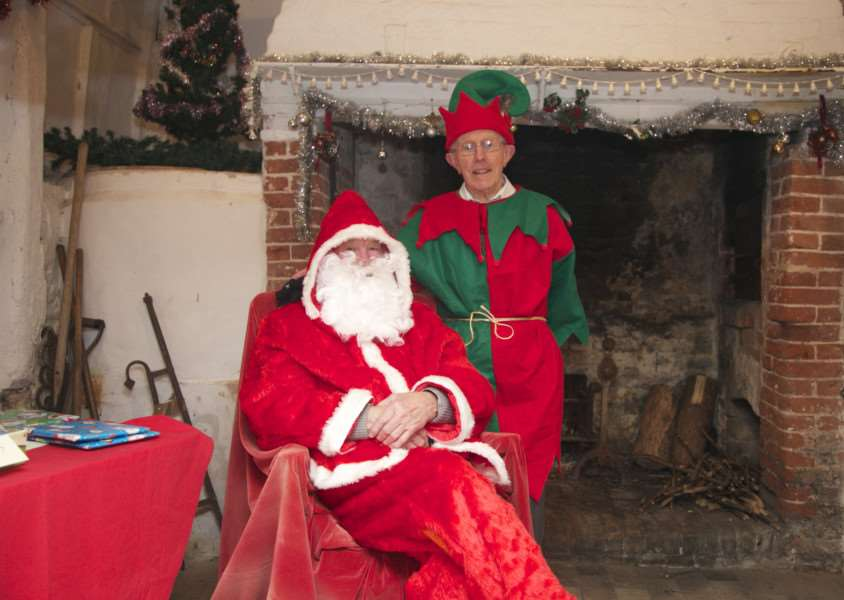 Father Christmas visited Pakenham Water Mill - attracting record numbers of children. ANL-151012-103825001