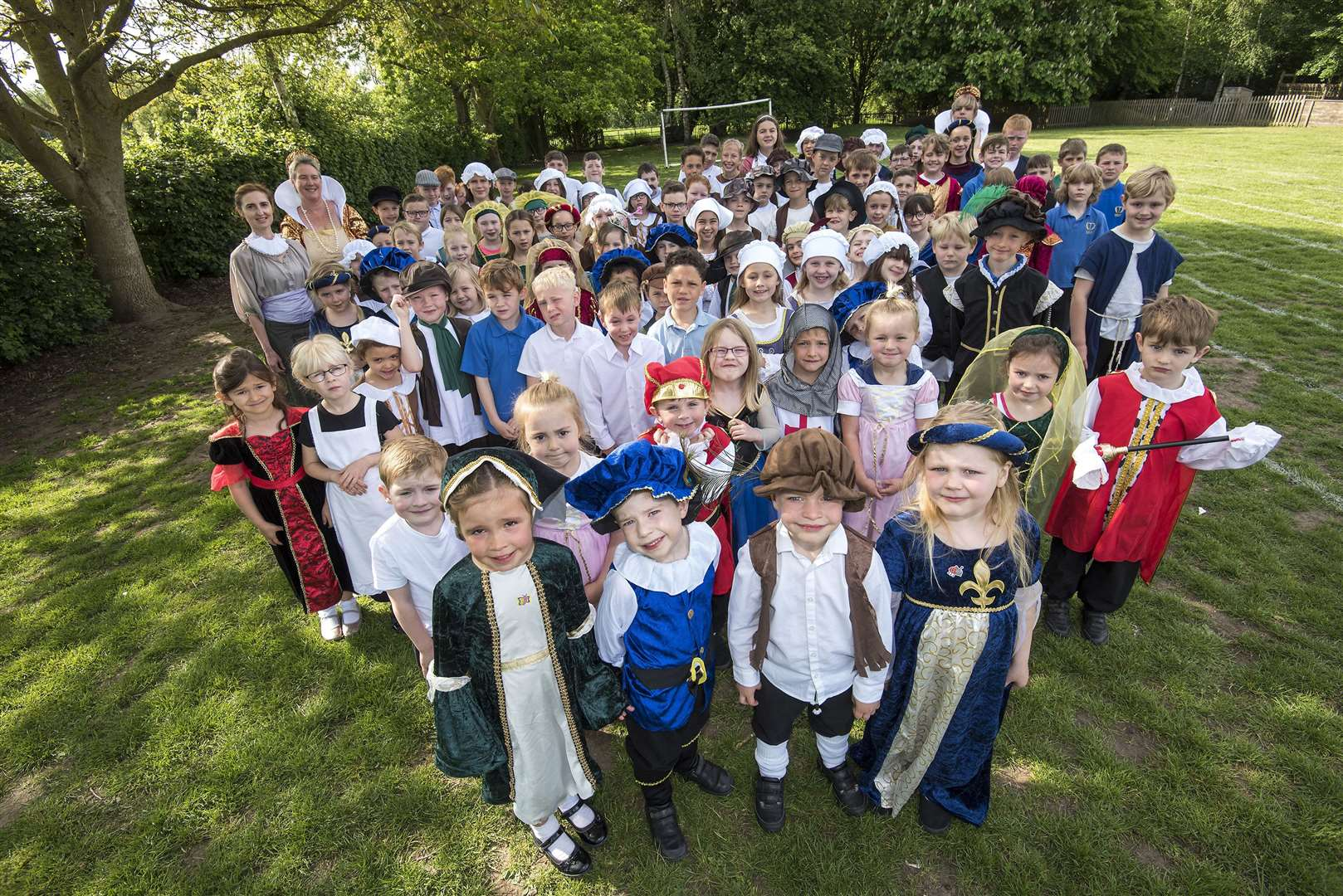 Thurlow Primary School pupils dressed in Tudor clothing as part of the Soame400 celebrations. Picture by Mark Westley.