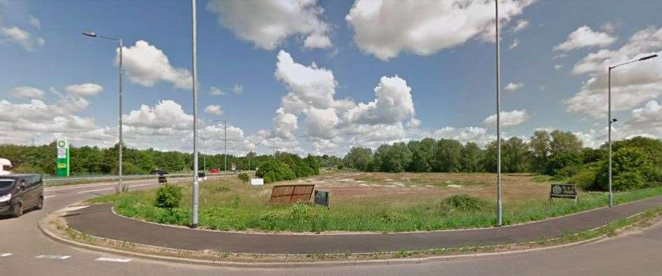 The proposed site for a KFC and Starbucks in Scole. Picture: Google Maps (44738624)