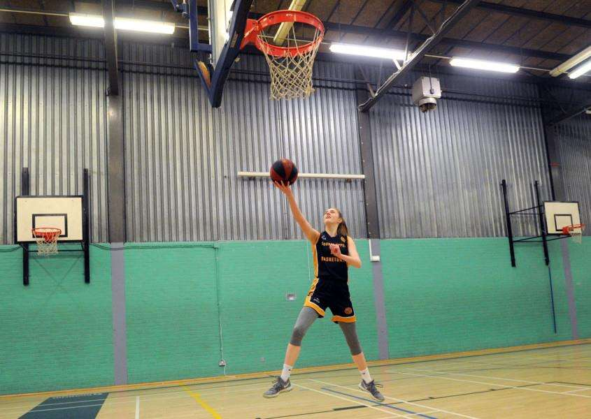 NEW MEMBER: Lizzy Sanders has been named on the Basketball England U15 development squad Picture: Mecha Morton