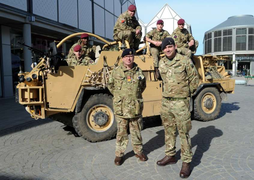 The Jackal support vehicle at the Army Recruitment day in Bury St Edmunds ANL-160314-140216009