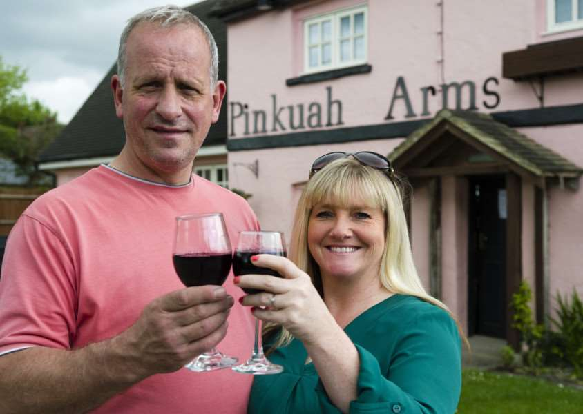 Pent low, Essex. John & Jo Wilsdon the new landlords of the Pinkuah Arms, in Pentlow which has opened again after a 3 month closure.''Picture: MARK BULLIMORE