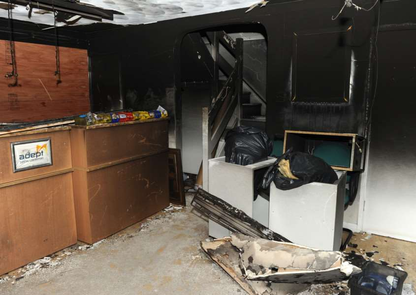 After the fire at Adept Dental Laboratory