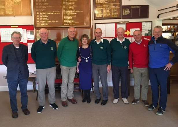 The Mayor of St Edmundsbury, Julia Wakelam, held a charity golf day at Flempton Golf Club
