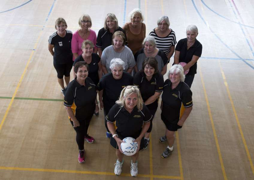 Walking Netball with Journal sports reporter Hannah Dolman and coach Tracey Butcher