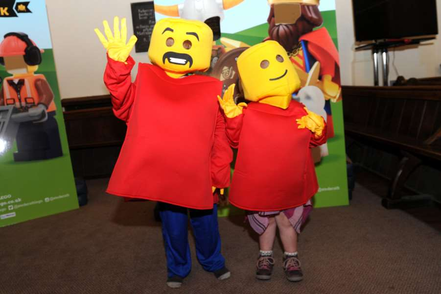 Lego launch at Bury cathedral ''Pictured: Children were able to dress up as lego people ANL-160530-192858009