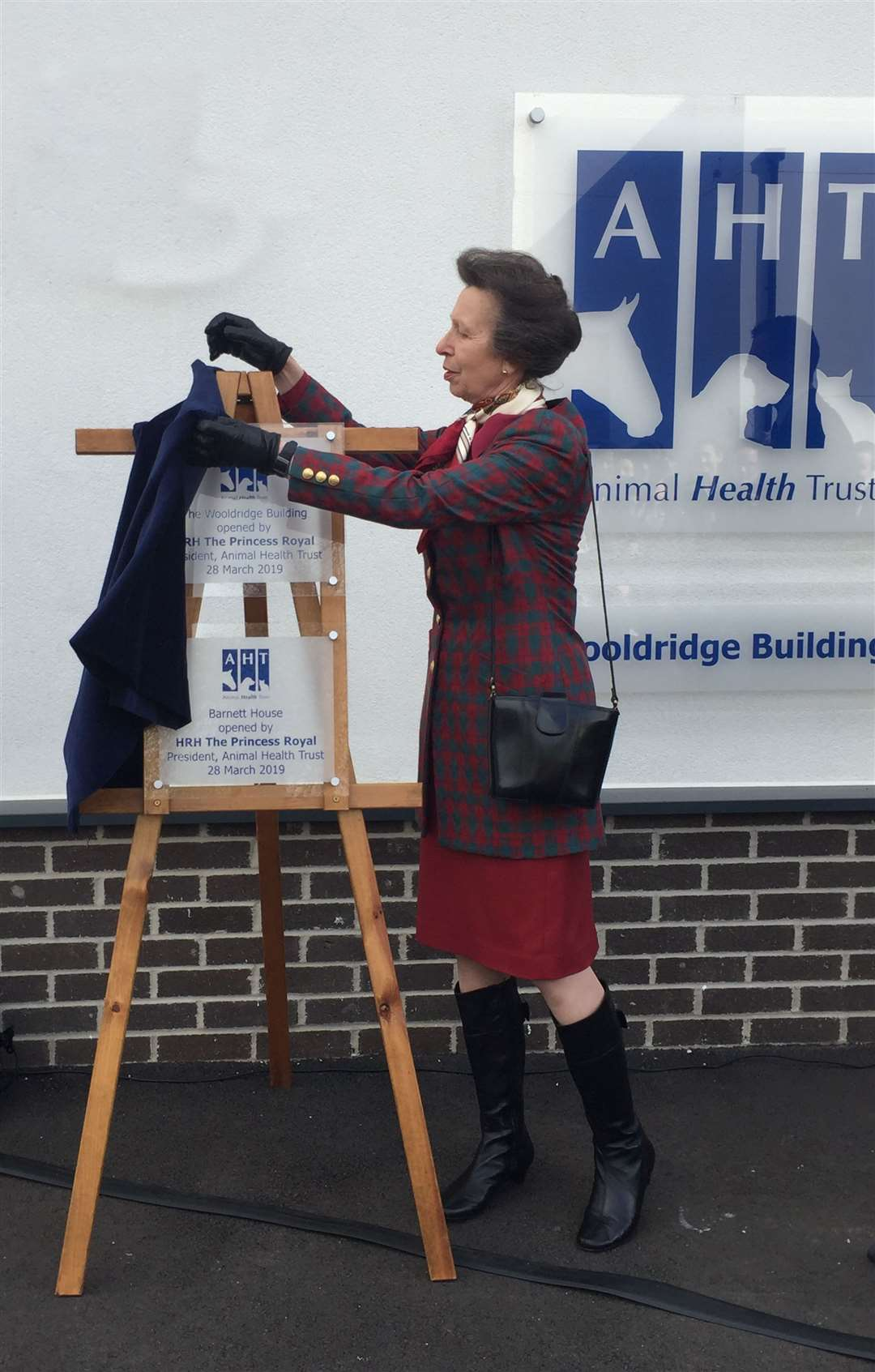 Princess Anne draws on her experience to unveil a plaque