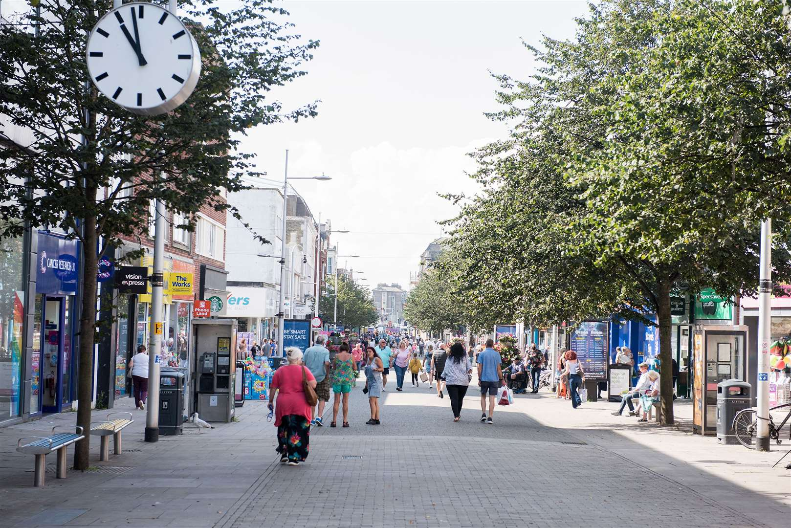 Lowestoft High Street pictured in August 2020. Picture by Mark Westley