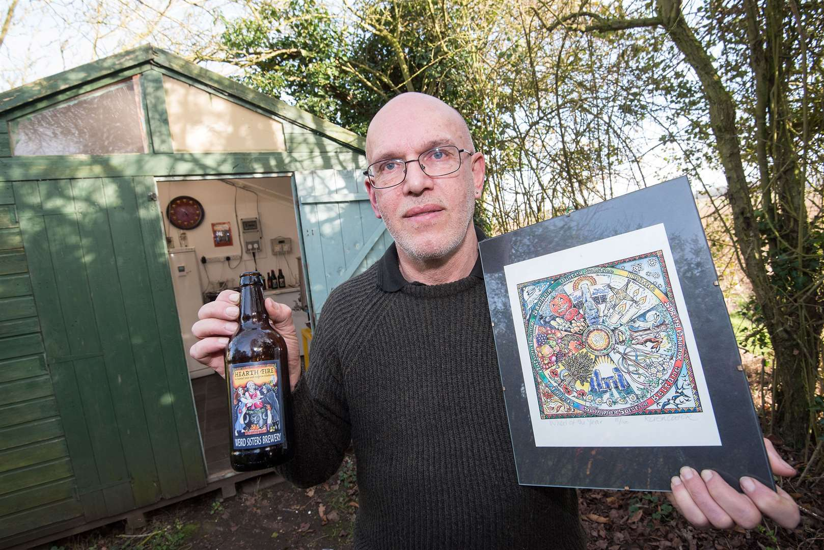 Paul Canham who runs his Weird Sisters micro brewery. Picture by Mark Westley