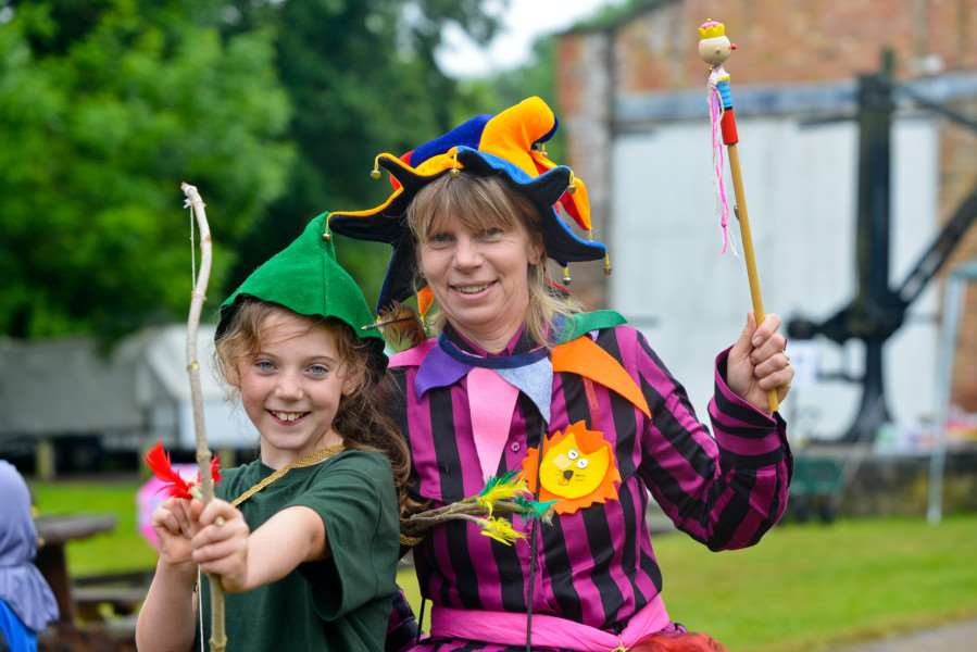 Magna Carta Festival at Clare Country Park. Sue and Lulu (9) Watson dress up for the day. ANL-150614-164827009
