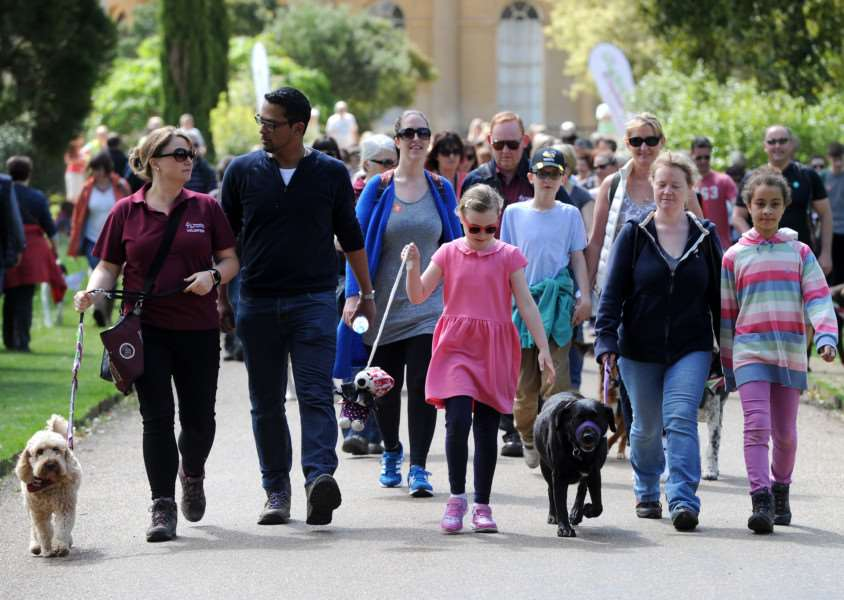 The Great British Dog walk in support of Hearing Dogs for Deaf People ANL-160523-010440009
