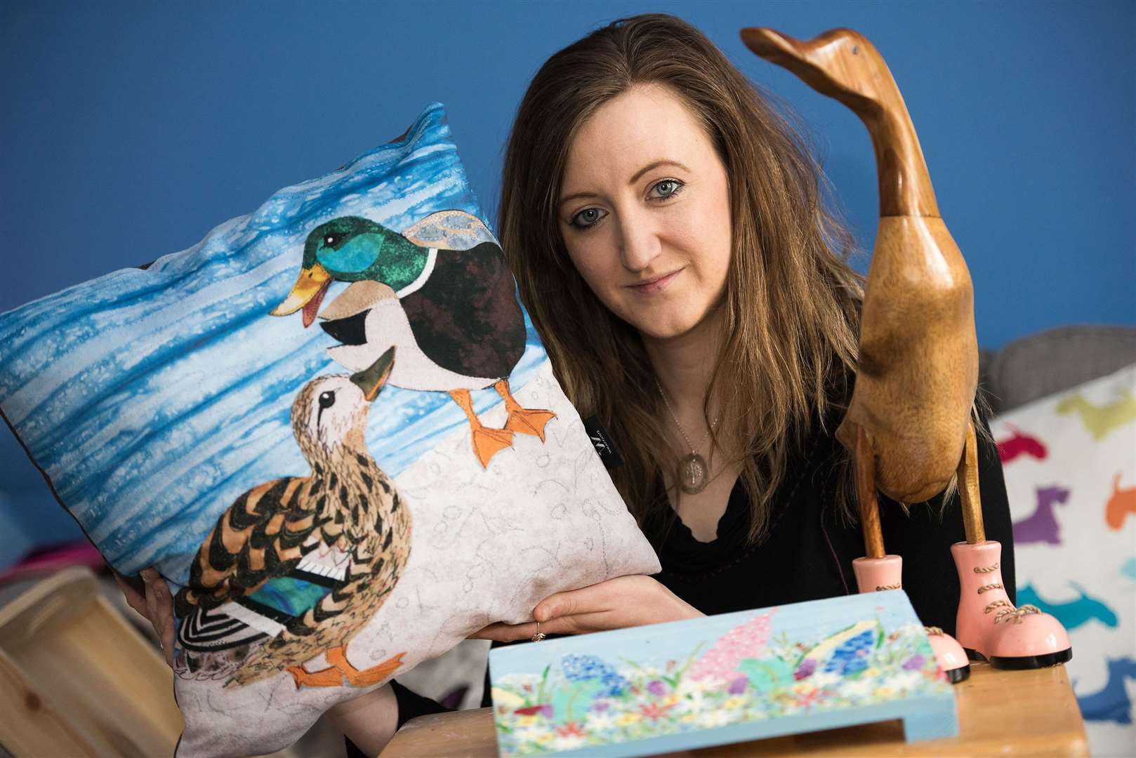 Sudbury entrepreneur Sarah-Marie Underhay who is expanding her Ducks in Boots business in Sudbury to larger premises to cope with demand for craft lessons. Picture Mark Westley. (7591992)