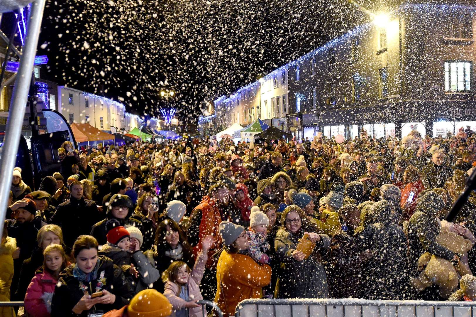 Bury St Edmunds light switch on 2019. Picture by Mecha Morton.
