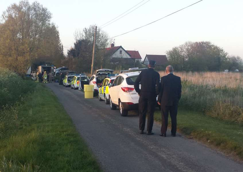 Police and bomb squad have been called to the Wyverstone property last year
