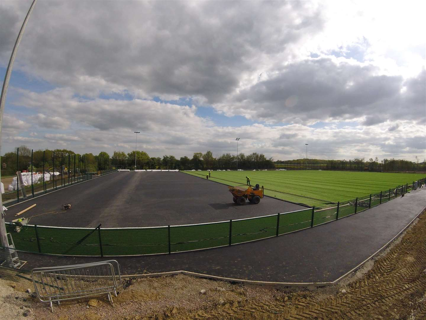 WORK IN PROGRESS: Work to build Needham's 3G recently got under way. Picture: Ben Pooley (1945249)