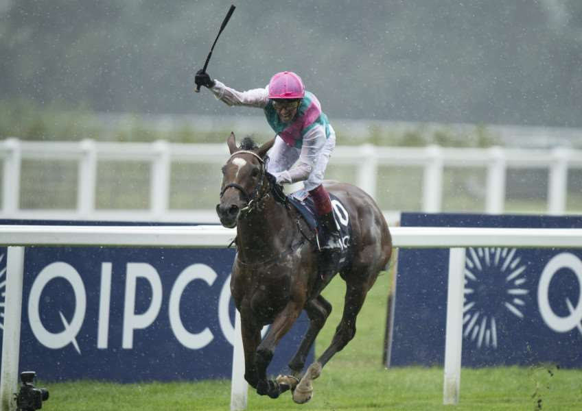 ROMPING HOME: Enable and Frankie Dettori on their way to victory at Ascot. Picture: Racing Post