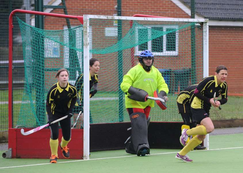 DEFENSIVE EFFORTS: Haverhill spent most of their home loss to Bury St Edmunds II in defence