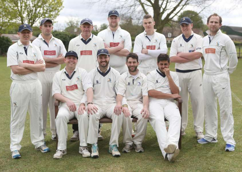 HIGH HOPES: The Worlington team pose for the camera ahead of the weekend's friendly at Burwell
