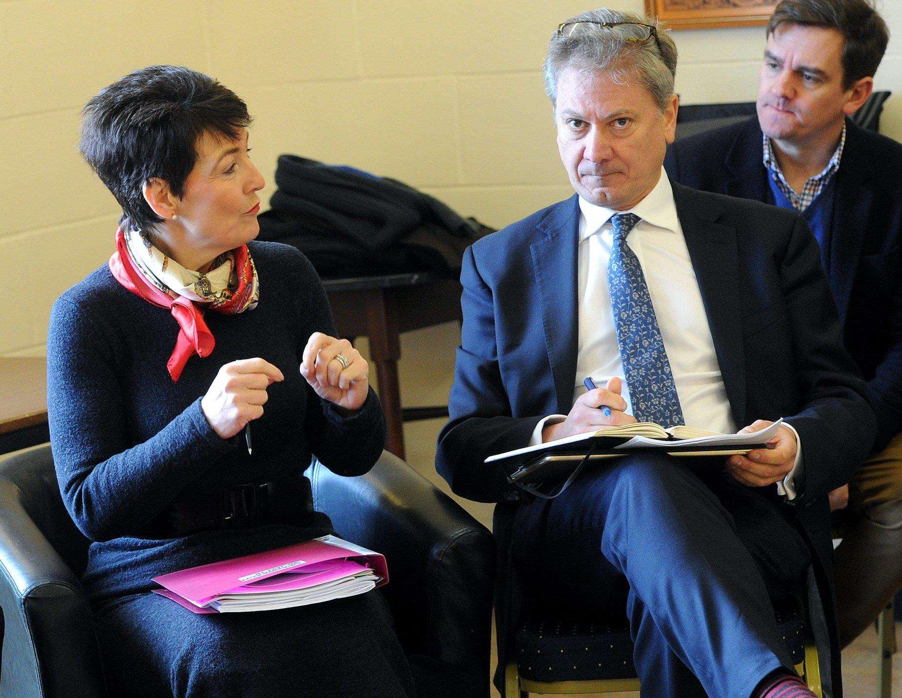 Jo Churchill MP at a meeting with Openreach chief executive in January. Picture: Mecha Morton.. (2766198)